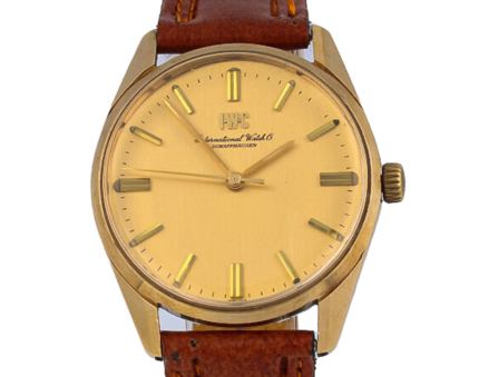 IWC vintage, MEN VINTAGE, WATCH, SOLID, 14K YELLOW GOLD, SS STEEL, CALIBER 89, R 910