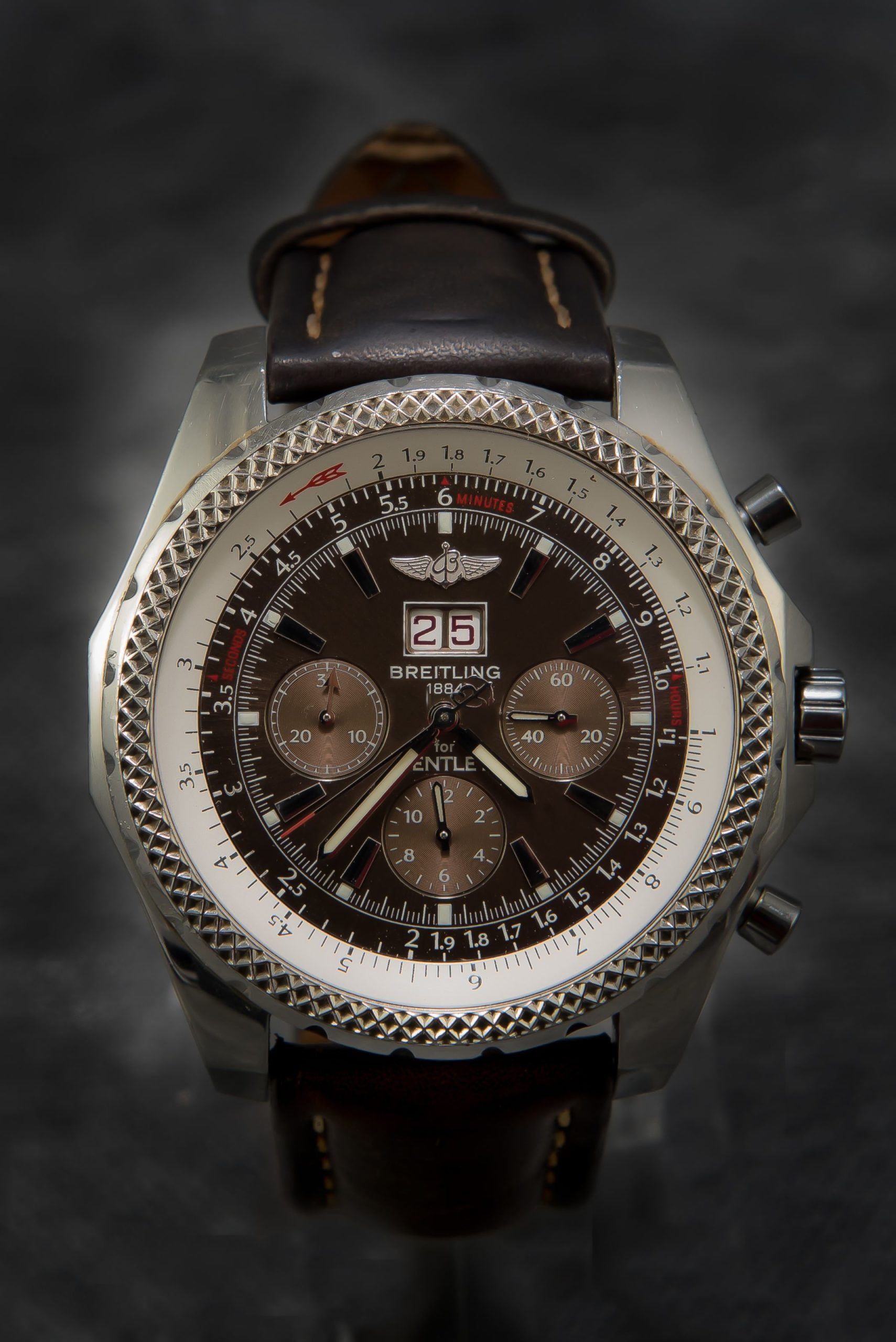 Breitling Bentley 6 75 A44362 Top Model 49mm Chocolate Dial Very Rare Pawn Deluxe