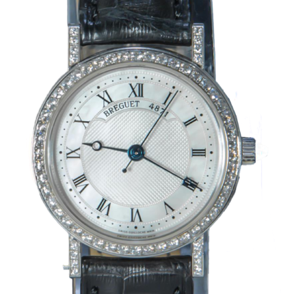 Breguet Classique 30mm 18K White Gold Diamond's Mother-of-pearl Dial