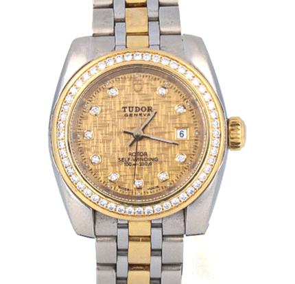 Tudor glamour date, DIAMOND BEZEL, GOLD DIAL, GOLD AND STEEL, AUTOMATIC, 8050