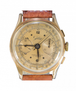 Jolus Vintage Manual Chronograph 18K Pink Gold Caliber 149 1940's
