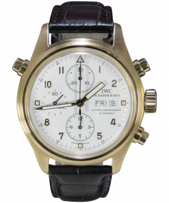 IWC Pilot Double Chronograph IW3711 Yellow Gold