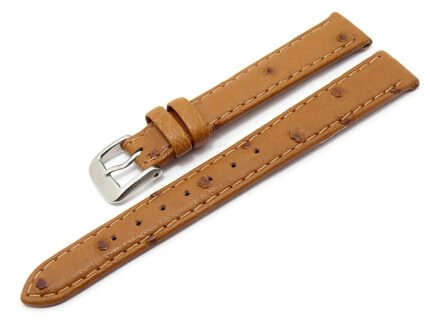 Watch band Hand-made Genuine Ostrich Leather Size lug width 12/13/14/15 mm