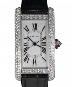 Cartier Tank Américaine WB710004 Diamonds 18K White Gold