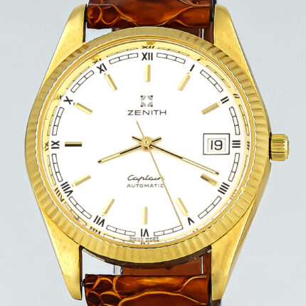 Zenith Captain Automatic Manufacture Caliber Grafted out 14K Solid Yellow Gold
