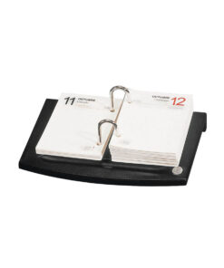 El Casco Calendar Block Holder Black Leather