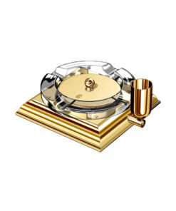 El Casco Cigar Ashtray Gold