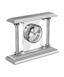 El Casco Desk Clock & Pen Holder Chrome Finish