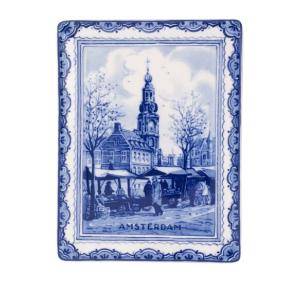Royal Delft Plate Minttower Amsterdam Blueware Collection