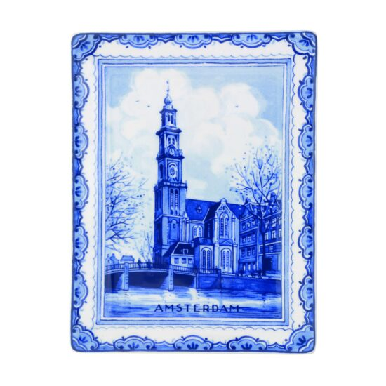 Royal Delft Plate Westertower Amsterdam Blueware Collection