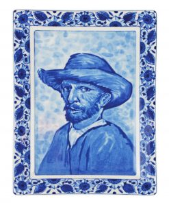 Royal Delft Plate Van Gogh Self portrait Blueware Collection