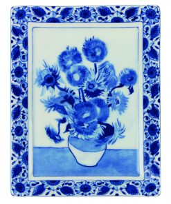 Royal Delft Plate Van Gogh Sunflowers Blueware Collection