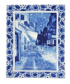 Royal Delft Plate Van Gogh Cafe Terrace by Night Blueware Collection