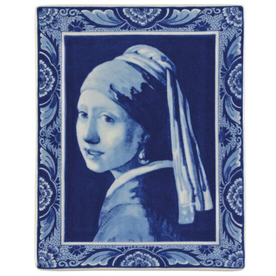 Royal Delft Plate Vermeer Girl with Pearl Earring Blueware Collection
