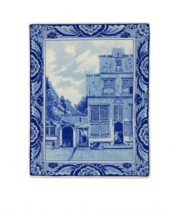 Royal Delft Plate Vermeer Little street Blueware Collection