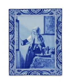 Royal Delft Plate Vermeer Woman with Water Jar Blueware Collection