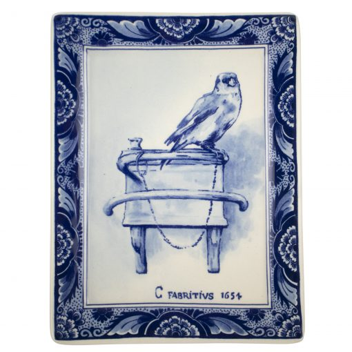 Royal Delft Plate Goldfinch Blueware Collection