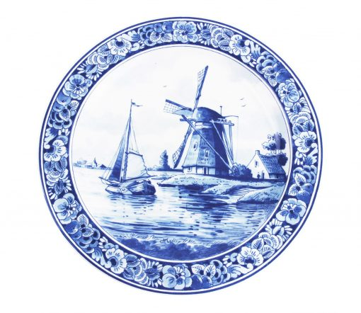 Royal Delft Plate Windmill Blueware Collection