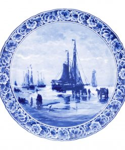 Royal Delft Plate Ships Mesdag Blueware Collection
