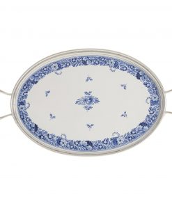 Royal Delft Serving Tray with Tin Border The Original Blue Collection