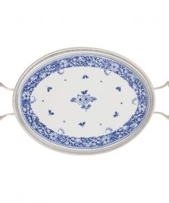 Royal Delft Tray Oval with Tin Border The Original Blue Collection
