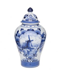 Royal Delft Jar with Lid Windmill The Original Blue Collection