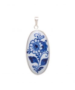 Royal Delft Medallion Flower in Silver The Original Blue Collection