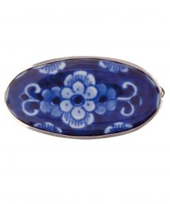 Royal Delft Brooch with Flower Blue with Pin The Original Blue Collection