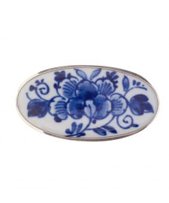 Royal Delft Brooch Flower White with Pin The Original Blue Collection