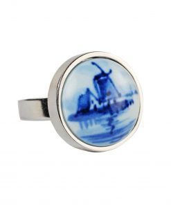 Royal Delft Ring Windmill The Original Blue Collection