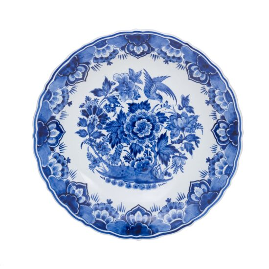 Royal Delft Plate with Flowers The Original Blue Collection