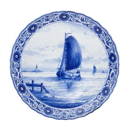 Royal Delft Plate with Ship The Original Blue Collection
