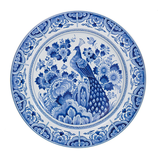 Royal Delft Plate with Birds The Original Blue Collection