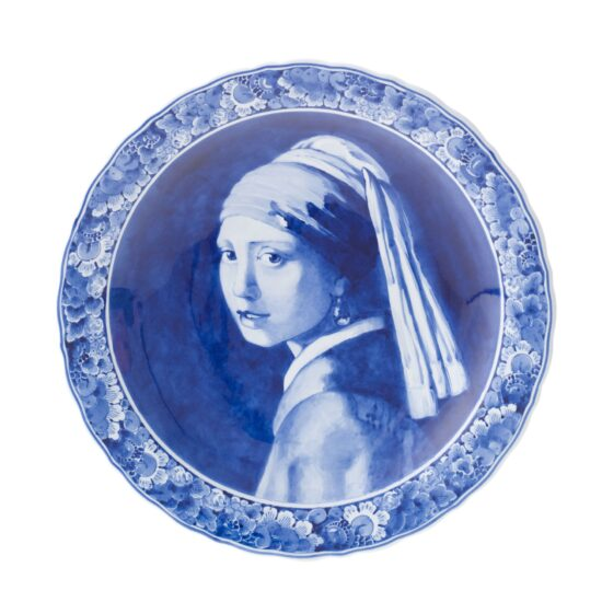 Royal Delft Plate Vermeer Girl with Pearl Earring The Original Blue Collection