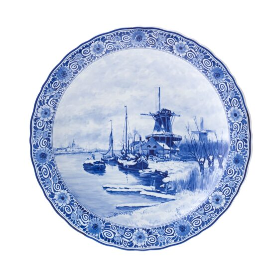 Royal Delft Plate Windmill Apol The Original Blue Collection
