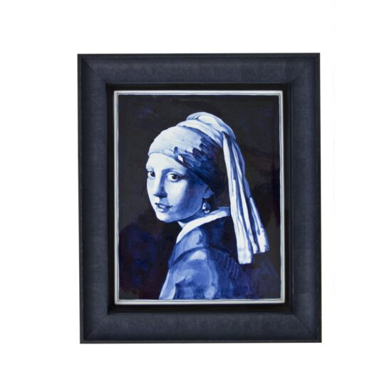 Royal Delft Tile-painting Vermeer Girl with Pearl Earring The Original Blue Collection