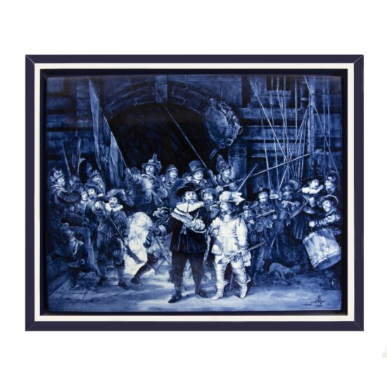 Royal Delft Tile-painting Rembrandt Night watch The Original Blue Collection