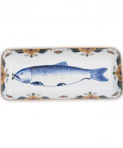 Royal Delft Decorative Plate Herring The Original Blue Collection