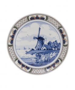 Royal Delft Decorative Plate Windmill The Original Blue Collection