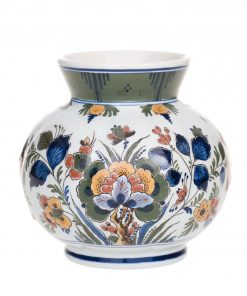 Royal Delft Vase with Flowers The Original Blue Collection