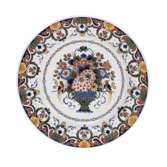 Royal Delft Decorative Plate Flowers Basket The Original Blue Collection