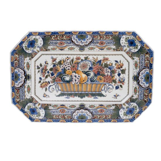 Royal Delft Large Decorative Oval Plate The Original Blue Collection