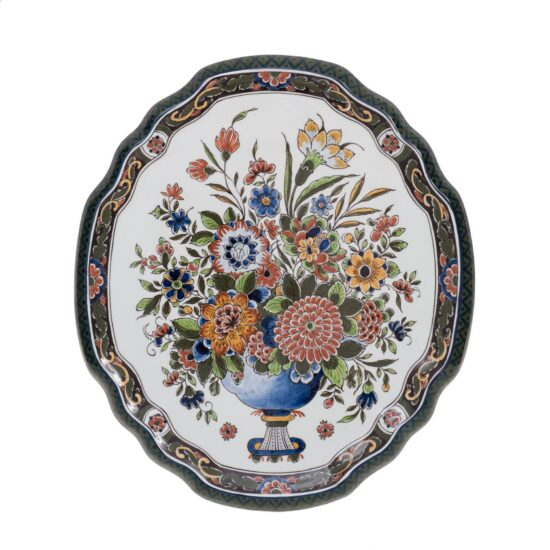Royal Delft Decorative Plate with Flowers The Original Blue Collection