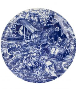 Royal Delft Decorative Plate Tribute to Jeroen Bosch The Original Blue Collection