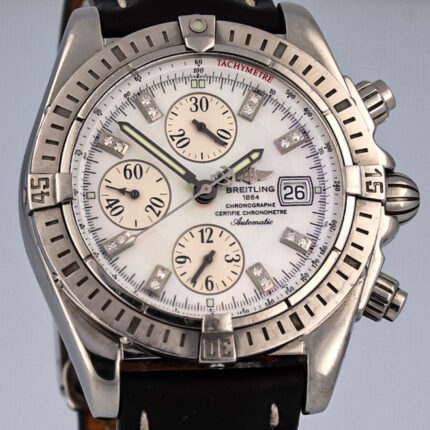 Breitling Chronomat 44 Evolution Mother–of–Pearl Diamond Watch A1335653