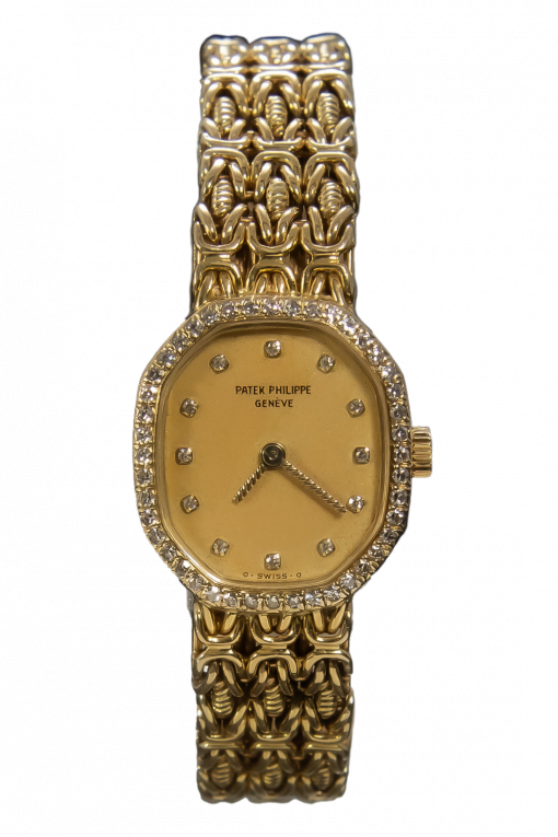 Patek Philippe Genève Museum' Octagonal 18K Yellow Gold Diamonds Special PP Created lady's watch