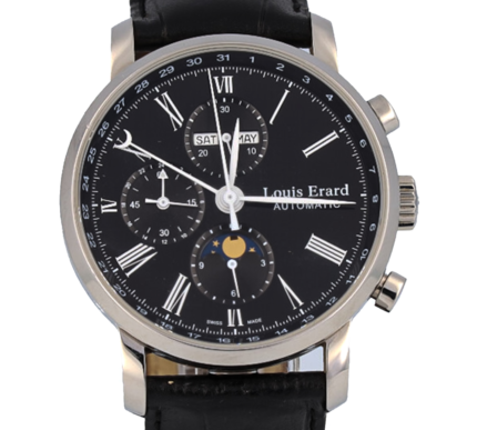 Louis Erard Excellence Moonphase Automatic Chronograph Model 80231AA21, Ref. 80231AA21-BDC51