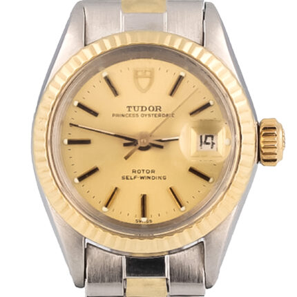 Tudor Princess Automatic ''The Oyster Rolex Case Solid 18K Yellow Gold 'ss Quick-set lady watch