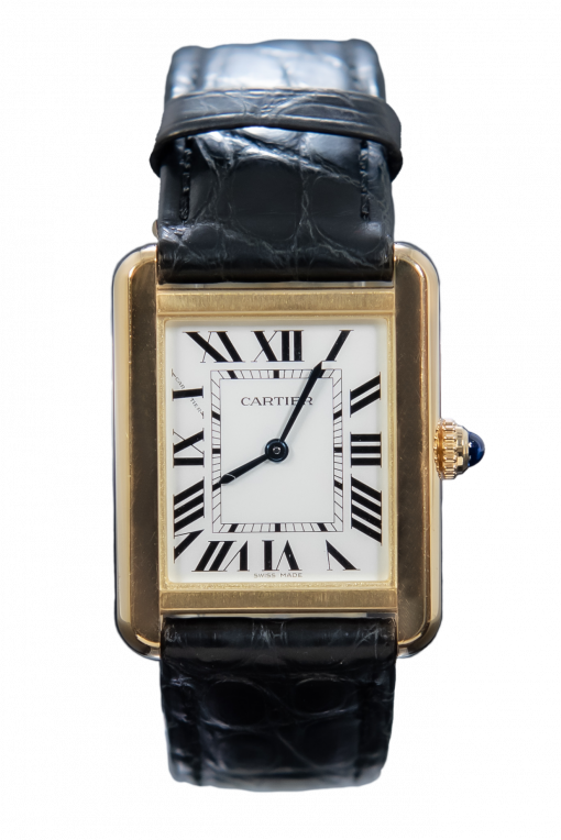 Cartier Tank Solo 3168 Yellow Gold & Clasp