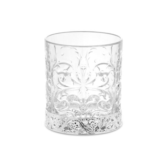 Chinelli Set of 6 Whiskey Tatoo Silver Glasses